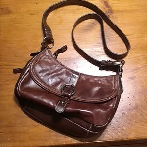 Pre-owned Aurielle brown leather crossbody bag